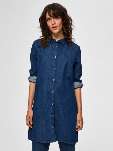 SELECTED FEMME Bluzka dżinsowa w kolorze granatowym