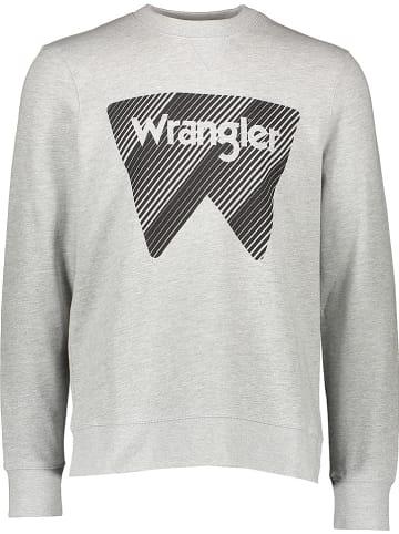 "Wrangler Sweatshirt ""Crew"" in Grau"