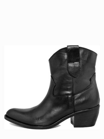 EYE Leder-Boots in Schwarz