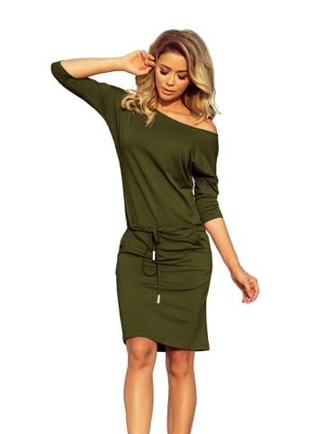 Numoco Sukienka w kolorze khaki