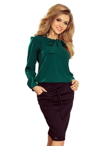 Numoco Bluzka w kolorze zielonym