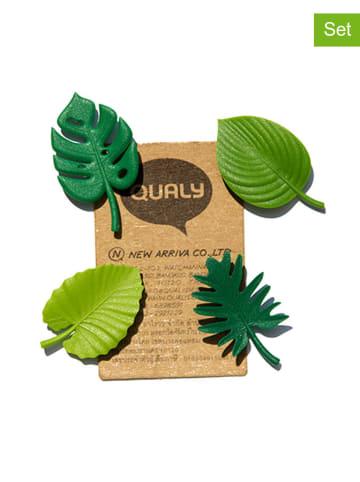 Qualy Design 4-częściowy zestaw magnesów w kolorze zielonym