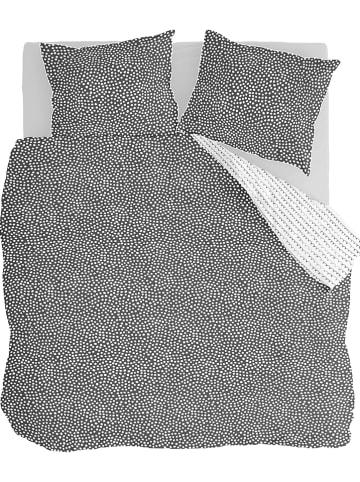 """Walra Flanellen beddengoedset """"Dots & Doodles"""" antraciet"""