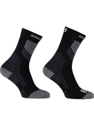 "SALOMON Ski-/snowboardsokken ""Outpath Wool DX"" zwart/grijs"