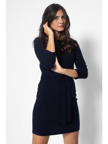 AUTHENTIC CASHMERE Kasjmier jurk donkerblauw