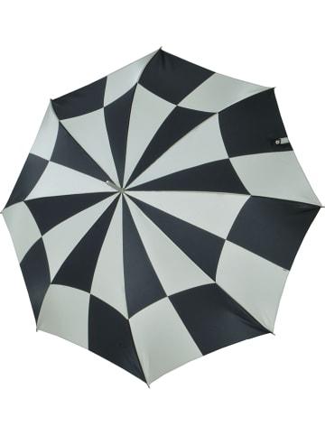 """Doppler Regenschirm """"Carbonsteel Lang AC"""" in Schwarz/ Weiß"""