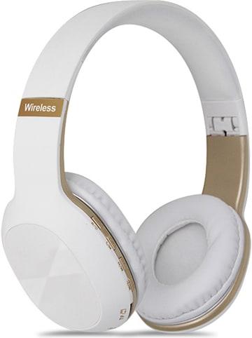 SWEET ACCESS Bluetooth on-ear hoofdtelefoon met FM-radio wit/goudkleurig