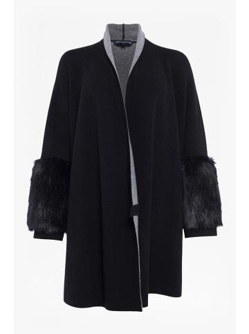 """French Connection Wełniany płaszcz """"Elaine"""" w kolorze czarnym"""
