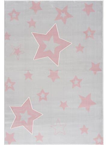 "Kids love rugs Geweven tapijt ""Galaxy"" grijs/lichtroze"