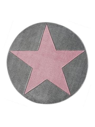 """Kids love rugs Geweven tapijt """"Shootingstar"""" grijs/lichtroze"""