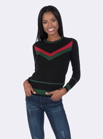 GIORGIO DI MARE Sweter w kolorze czerwono-czarno-zielonym