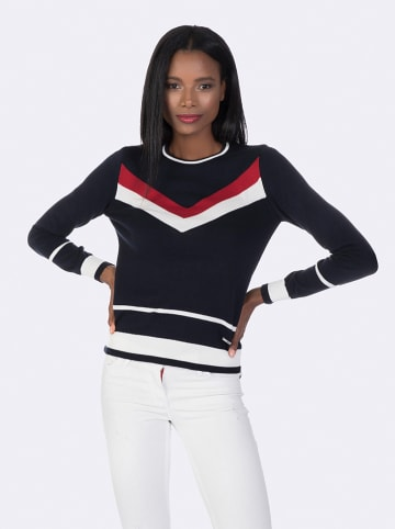 GIORGIO DI MARE Sweter w kolorze granatowo-biało-czerwonym