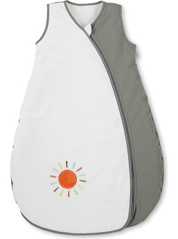 "Sterntaler Babyschlafsack ""Waldis"" in Weiß/ Grau"
