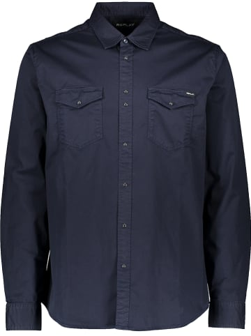 Replay Blouse donkerblauw