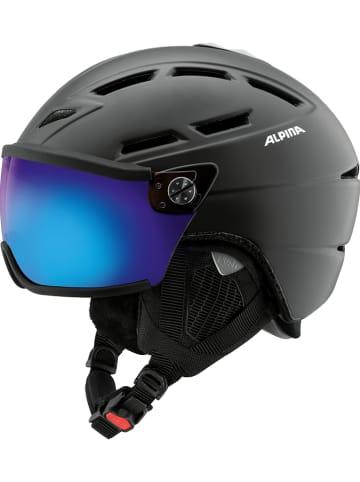 """Alpina Kask narciarski """"Griva Visor"""" w kolorze czarno-niebieskim"""