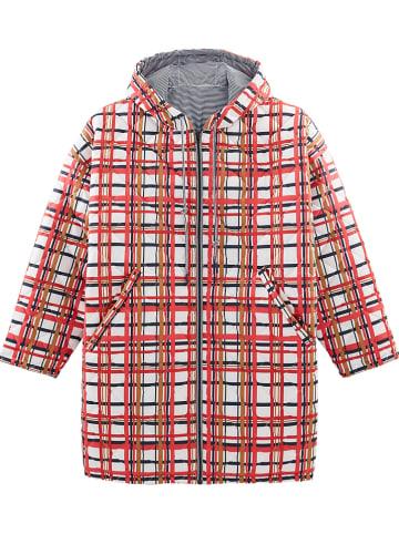 PETIT BATEAU Omkeerbare mantel rood/grijs