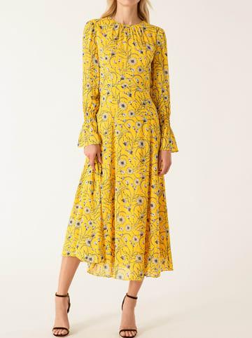 IVY & OAK Sukienka w kolorze żółtym ze wzorem