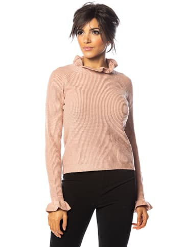 """Cosy Winter Sweter """"Ely"""" w kolorze jasnoróżowym"""
