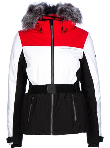 Peak Mountain Ski-/ Snowboardjacke in Rot/ Weiß/ Schwarz