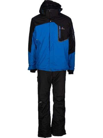 Peak Mountain 2-delige ski-/snowboardoutfit blauw/zwart