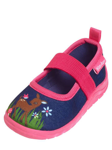 Playshoes Pantoffels donkerblauw