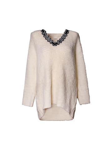 Pinko Sweter w kolorze kremowym