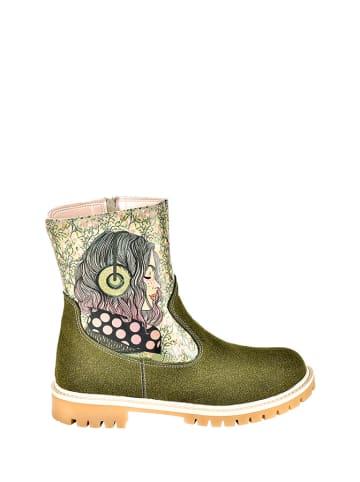 Streetfly Boots groen/beige/meerkleurig
