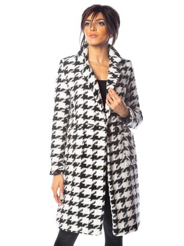 """100% Coats Płaszcz przejściowy """"Eve"""" w kolorze biało-czarnym"""