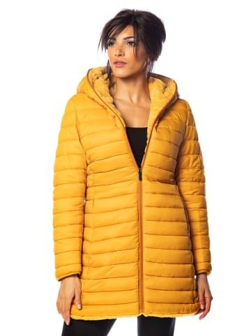 100% Coats Kurtka zimowa w kolorze żółtym