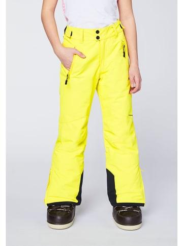 """Chiemsee Spodnie narciarskie ''""""Kizzy"""""""" w kolorze żółtym"""