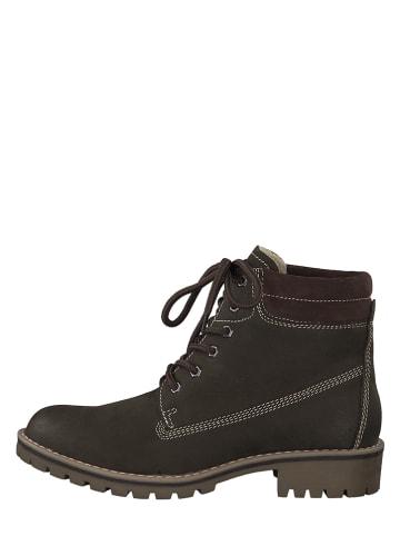 Marco Tozzi Leren boots bruin