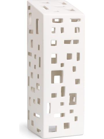 "Kähler Windlicht ""Urbania High building"" in Weiß - (B)7,5 x (H)22 x (T)7,5 cm"