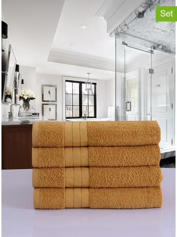Good Morning 4-delige set: handdoeken okergeel
