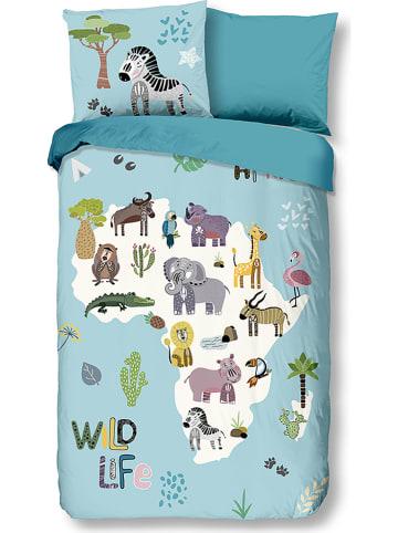 "Good Morning Beddengoedset ""Wildlife"" blauw"