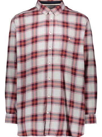 Tom Tailor Koszula - Comfort fit - w kolorze czerwono-jasnoszaro-granatowym