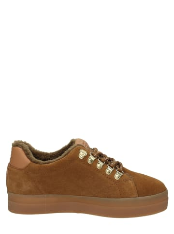 "GANT Footwear Leren sneakers ""Aurora"" lichtbruin"