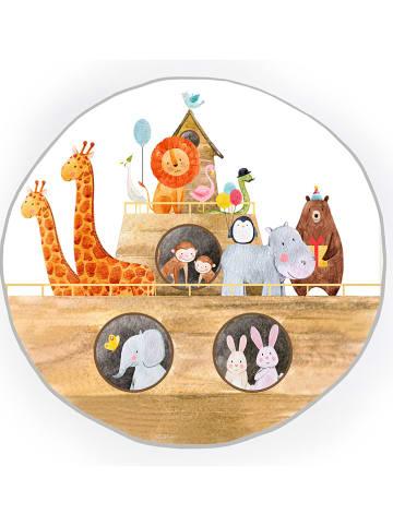 "Little & Cute Teppich ""Noah's Ark"" in Bunt - Ø 120 cm"