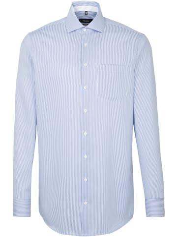 Seidensticker Hemd - Comfort fit -  in Hellblau/ Weiß