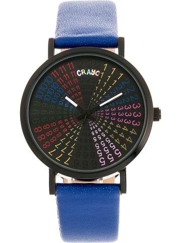 "Crayo Kwartshorloge ""Fortune"" blauw/zwart"
