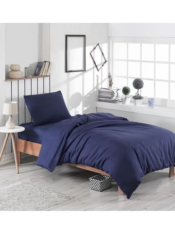 """Colourful Cotton Beddengoedset """"Paint"""" donkerblauw"""