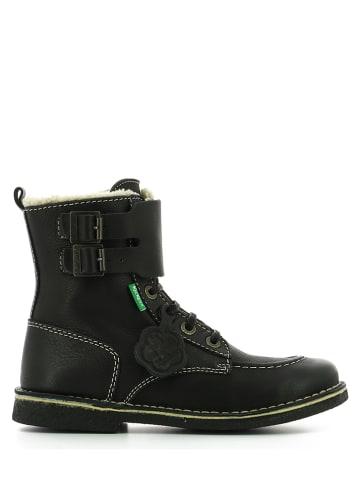 """Kickers Winter-Leder-Boots """"Meenely"""" in Schwarz"""