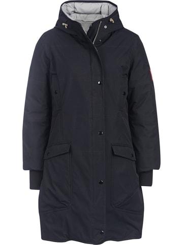 """Finside Dwustronny płaszcz """"Smilla"""" w kolorze szaro-czarnym"""
