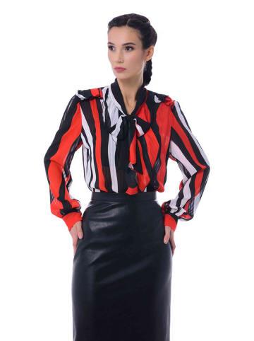 Iren Klairie Bluzka w kolorze czerwono-czarno-białym