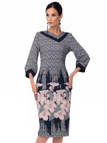 Iren Klairie Sukienka w kolorze szarym ze wzorem