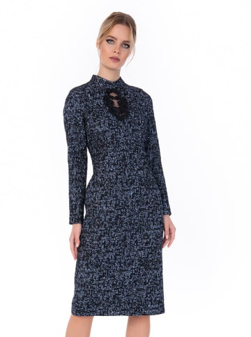 Iren Klairie Sukienka w kolorze niebieskim ze wzorem
