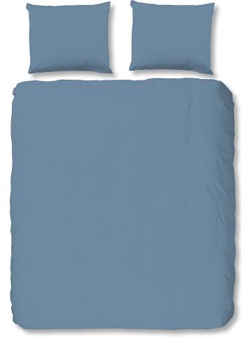 Hip Komplet pościeli satynowej w kolorze niebieskim
