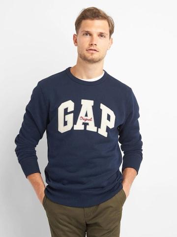 GAP Sweatshirt lichtblauw/wit