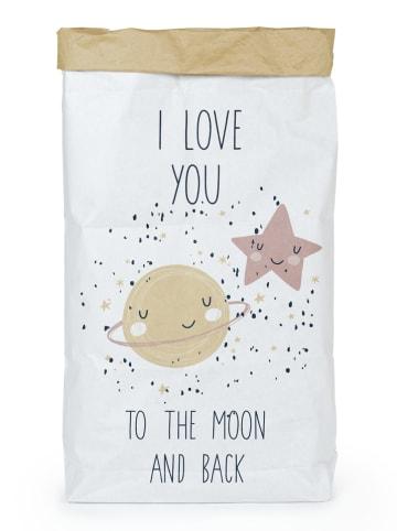 """Tanuki Torba """"Love to the moon"""" w kolorze biało-beżowym - 60 x 90 x 13 cm"""