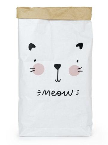 """Tanuki Torba """"Meow"""" w kolorze biało-czarnym - 60 x 90 x 13 cm"""