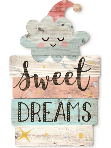 """Tanuki Drewniany obraz """"Sweet Dreams"""" - 30 x 48 cm"""
